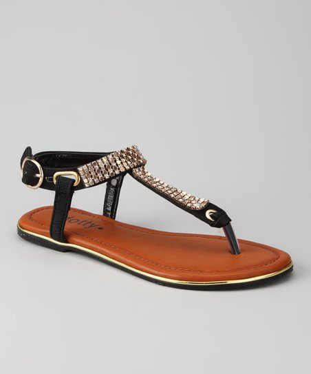 Black Zippy Sandal