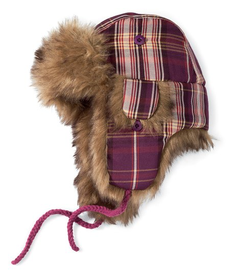 Purple Stripe Trapper Hat