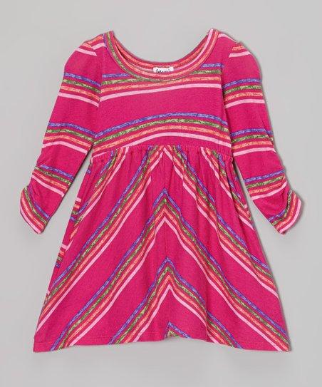 Tulip Stripe Long-Sleeve Dress - Infant