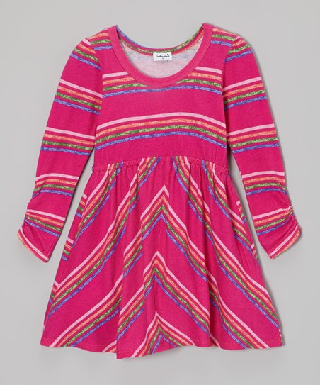 Tulip & Green Stripe Dress - Toddler & Girls
