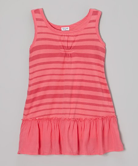 Smoothie Stripe Ruffle Dress - Toddler & Girls