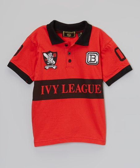 Red 'Ivy League' Polo - Boys