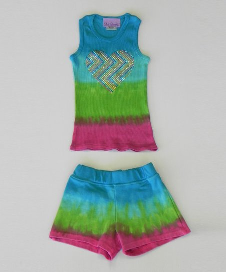 Ocean & Berry Heart Tank & Skort - Toddler & Girls
