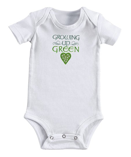 White 'Growing Up Green' Bodysuit - Infant