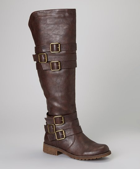 Dark Brown Buckle Vivienne Boot