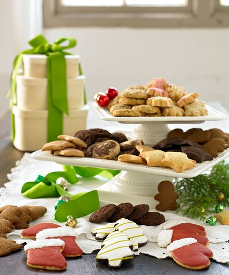 Classic Three-Tier Holiday Cookie Tower Gift Set
