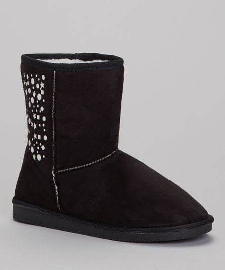 Black Studded Lo Boot