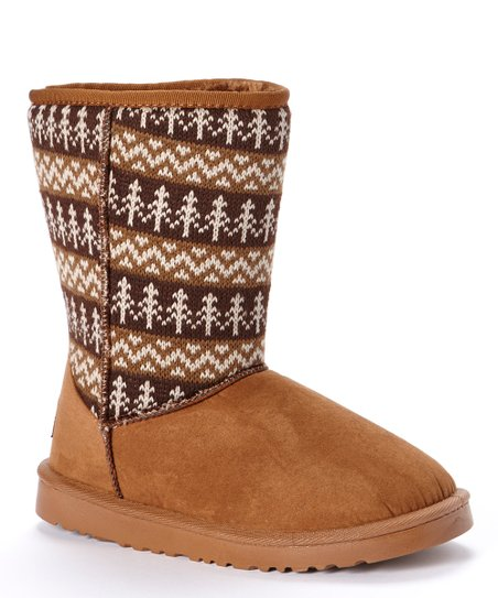 Brown Forest Fleece Boot