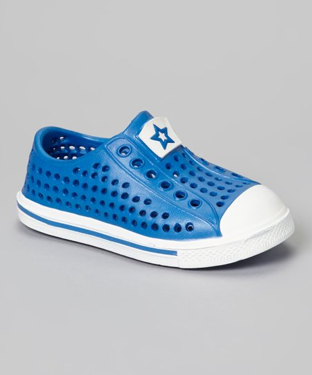 Blue & White Rubber Sneaker