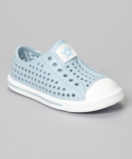 Light Blue & White Rubber Sneaker