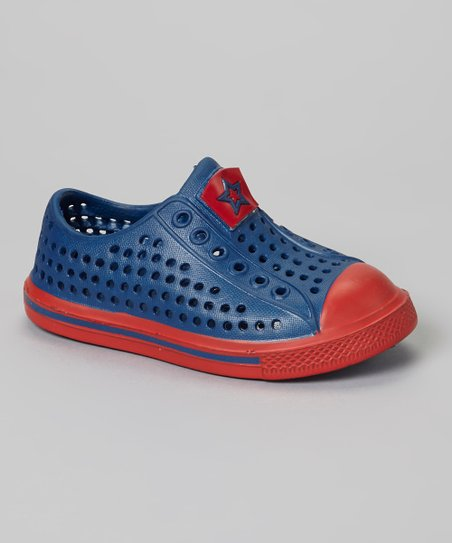 Blue & Red Rubber Sneaker
