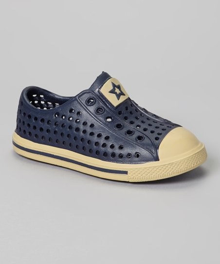 Navy & Tan Rubber Sneaker