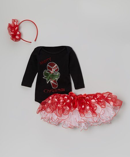 Black 'Merry Christmas' Bodysuit Set - Infant