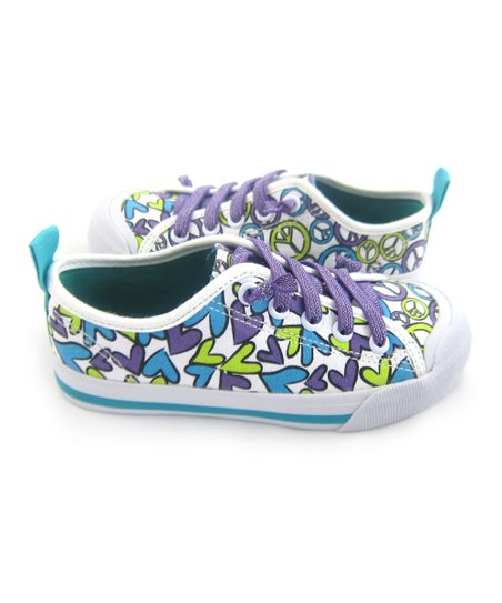Purple & Lime Pass It On Favorite Sneaker - Kids