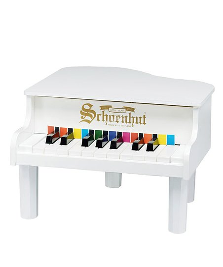 White 18-Key Mini Grand Piano