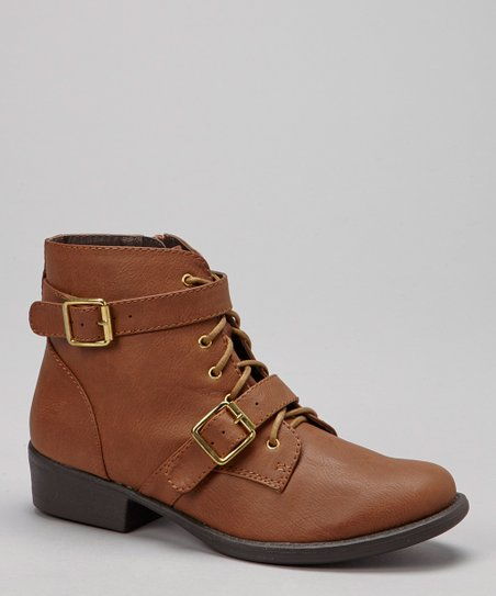 Brown Gretta Ankle Buckle Boot