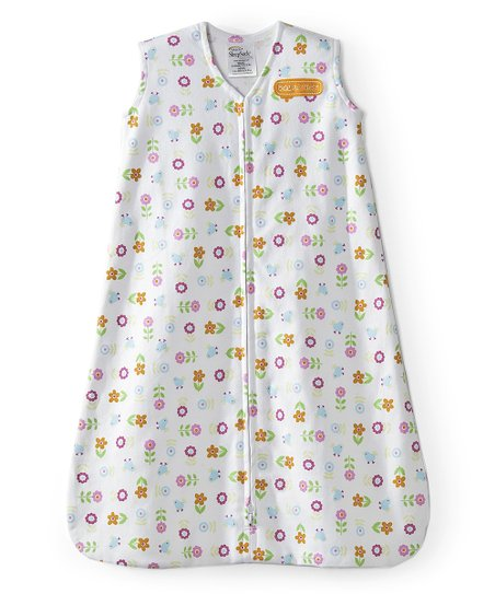 White Flower & Bird HALO SleepSack
