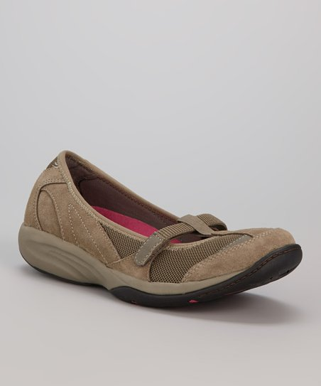 Dark Taupe Suede Lena Mary Jane
