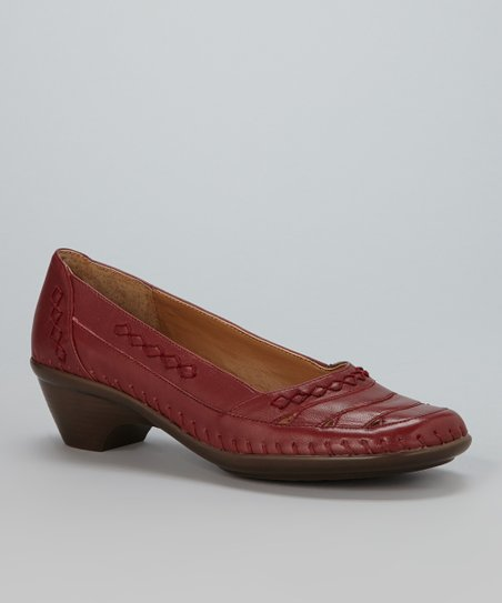 Dark Red Evonna Pump