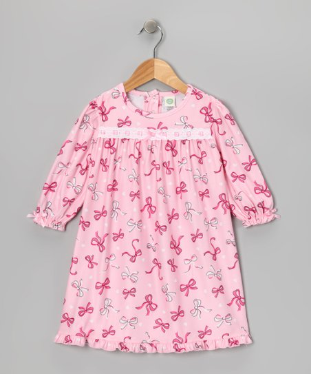 Pink Bow Nightgown - Toddler