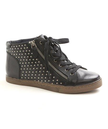 Black Nolan Wedge Sneaker