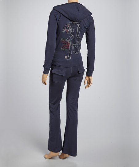 Navy Rose Hoodie & Lounge Pants