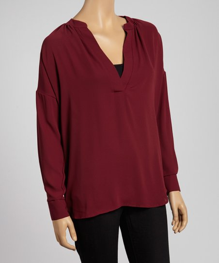 Burgundy Dolman Top