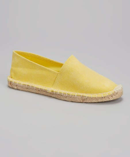 Yellow Distressed Espadrille