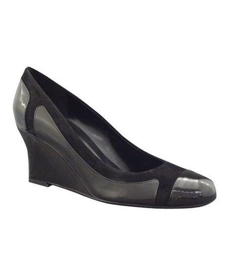Black Patent Uffo Wedge