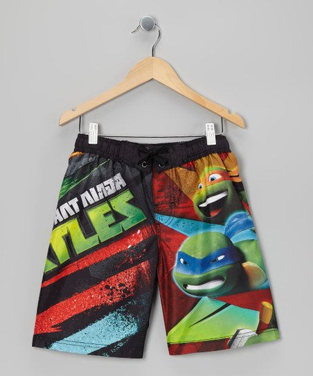 Black Ninja Turtles Boardshorts - Boys