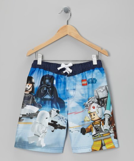 Navy Lego Star Wars Boardshorts - Boys