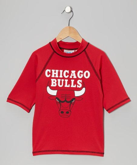 Red Chicago Bulls Rashguard - Toddler & Kids