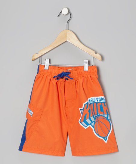 Orange & Blue 'New York Knicks' Cargo Boardshorts - Boys