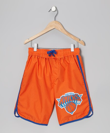 Orange Alternate New York Knicks Boardshorts - Boys