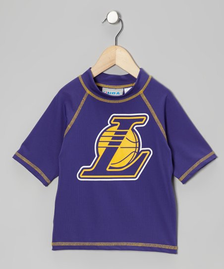 Purple Los Angeles Lakers Rashguard - Kids