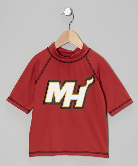 Burgundy Miami Heat Rashguard - Boys