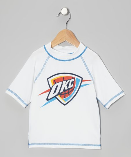 Oklahoma City Thunder Blue Stitch Rashguard - Kids