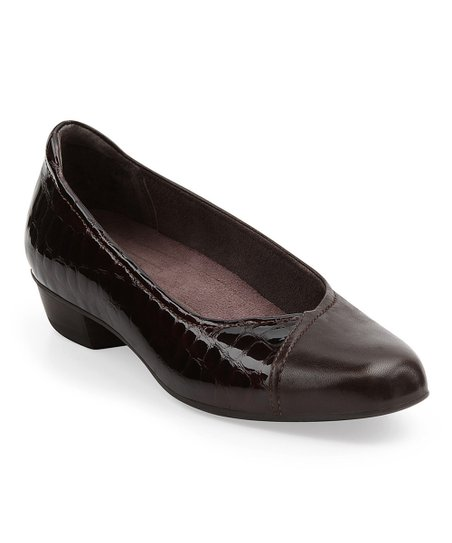 Dark Brown Caswell Eternity Leather Flat