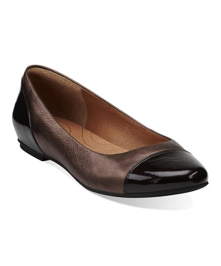 Bronze Valley Moon Leather Flat
