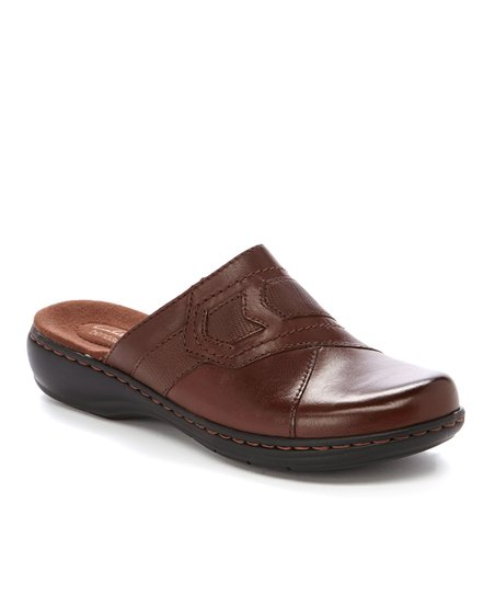 Brown Leisa Sahara Leather Clog