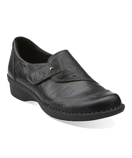 Black Scrunch Whistle Carol Leather Slip-On Shoe