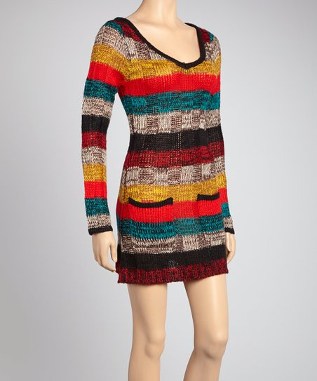 Red & Blue Stripe Sweater