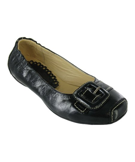 Black Burnished Chelsea Flat