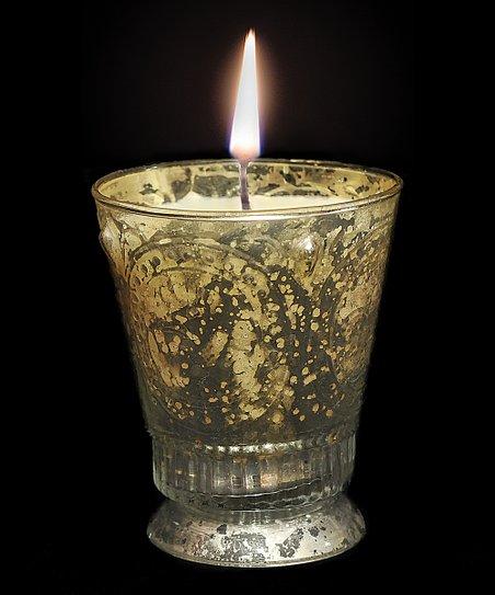 Gold Fleur-de-Lis Sandalwood Scented Candle