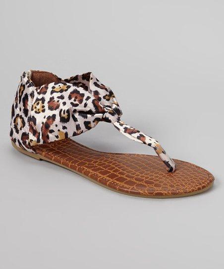 Cream & Brown Leopard Sandal