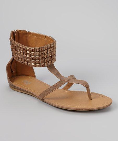 Brown Stud Gladiator Sandal