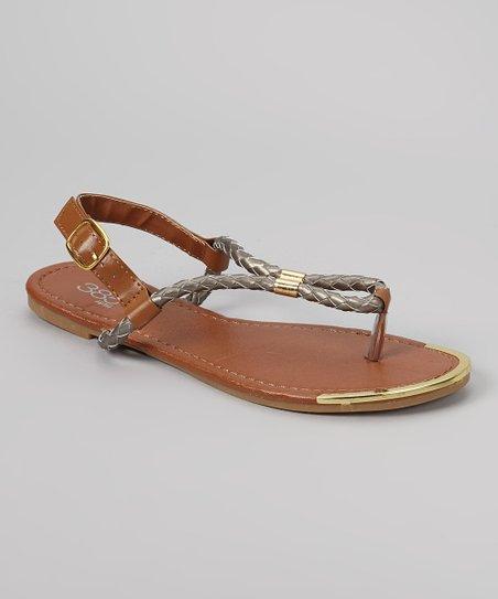 Gray & Gold Rope Sandal