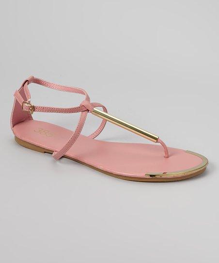 Pink & Gold Bar Sandal