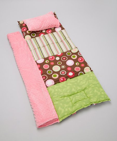 Pink & Brown Carnival Quilted Nap Mat