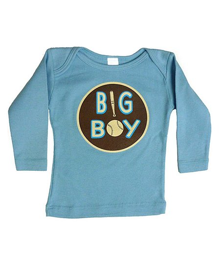 Blue Baseball 'Big Boy' Long-Sleeve Tee - Infant & Toddler
